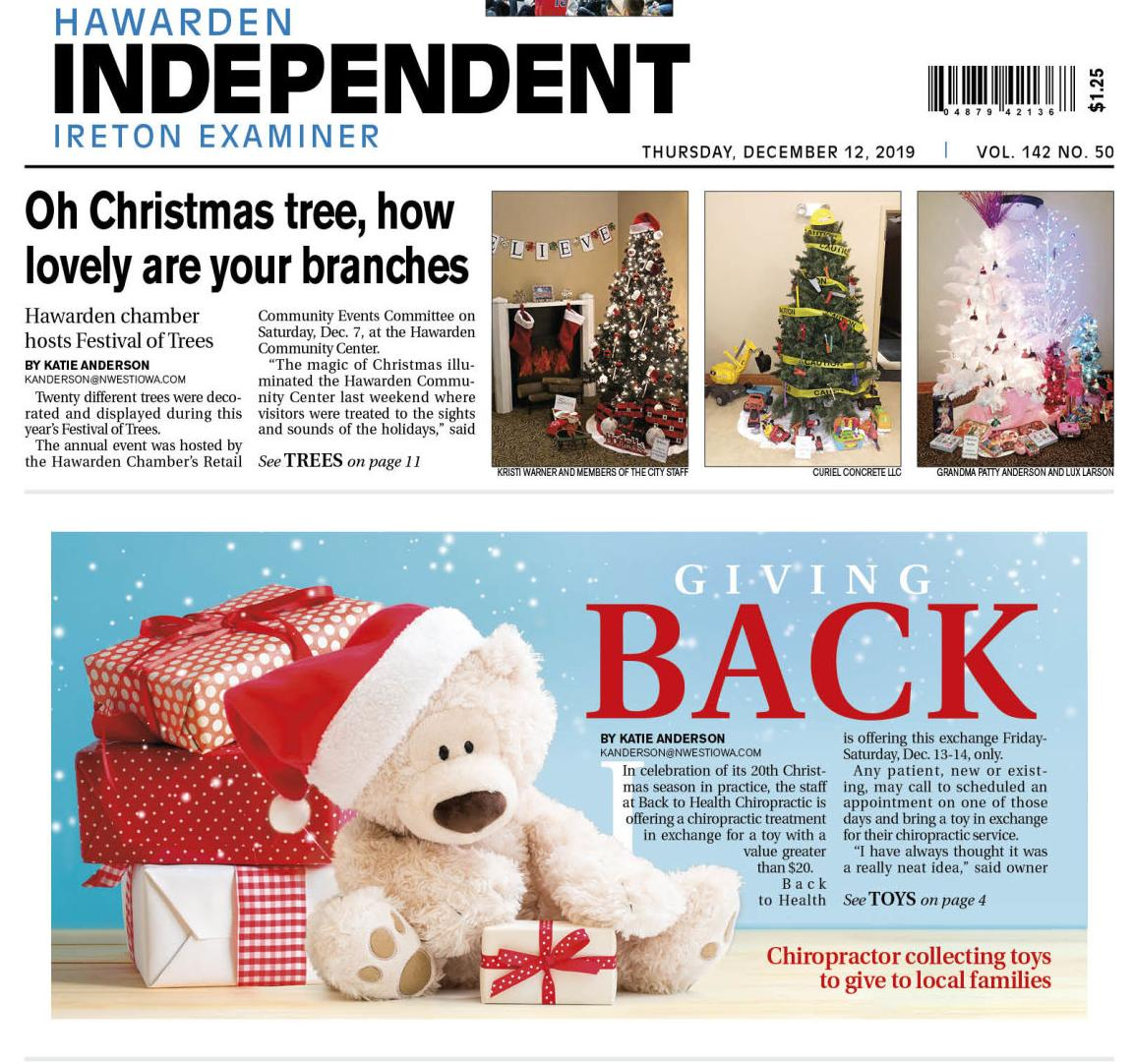 Hawarden Independent/Ireton Examiner Dec. 12, 2019