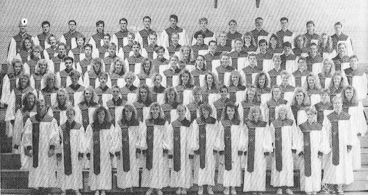 Western Christian 1991 choir