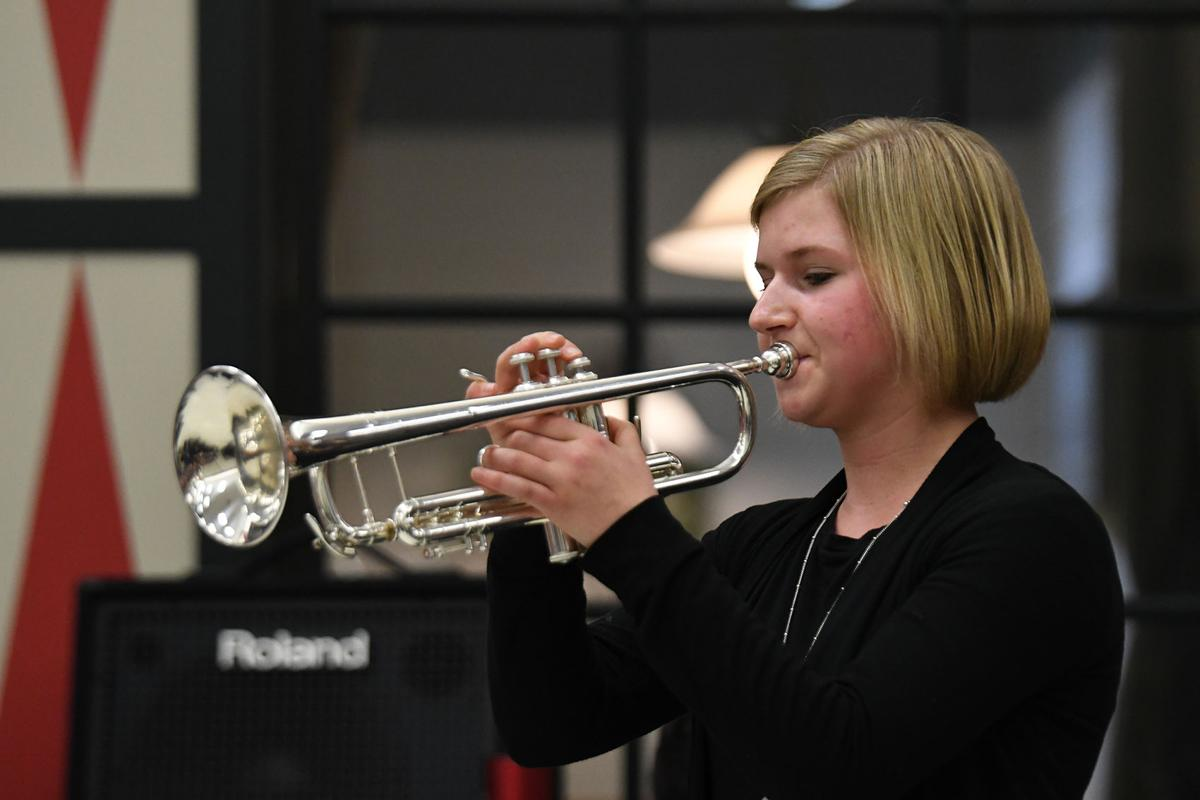 Sophomore trumpeter Ellie Hurst
