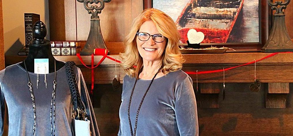 Julie Hulstein in her boutique