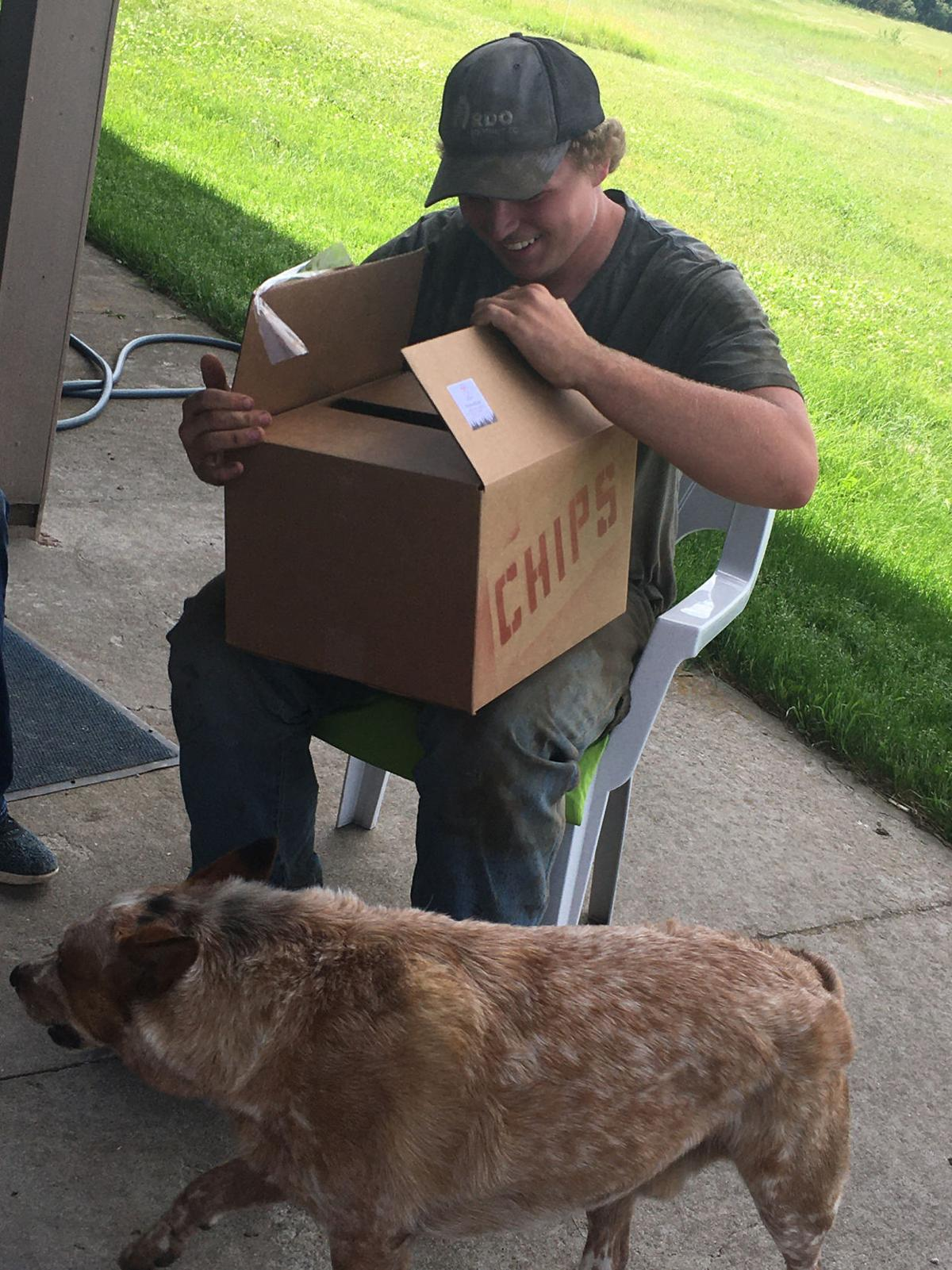 Cole Papendick opens Camp-in-a-Box