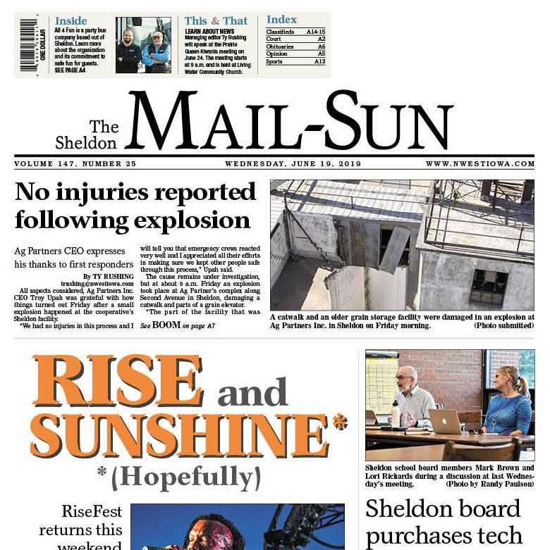 The Sheldon Mail-Sun June 19, 2019
