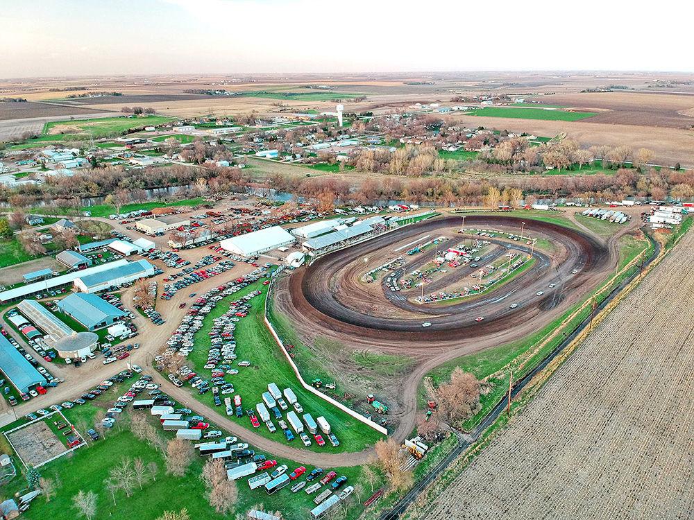 Aerial shot of Rapid Speedway
