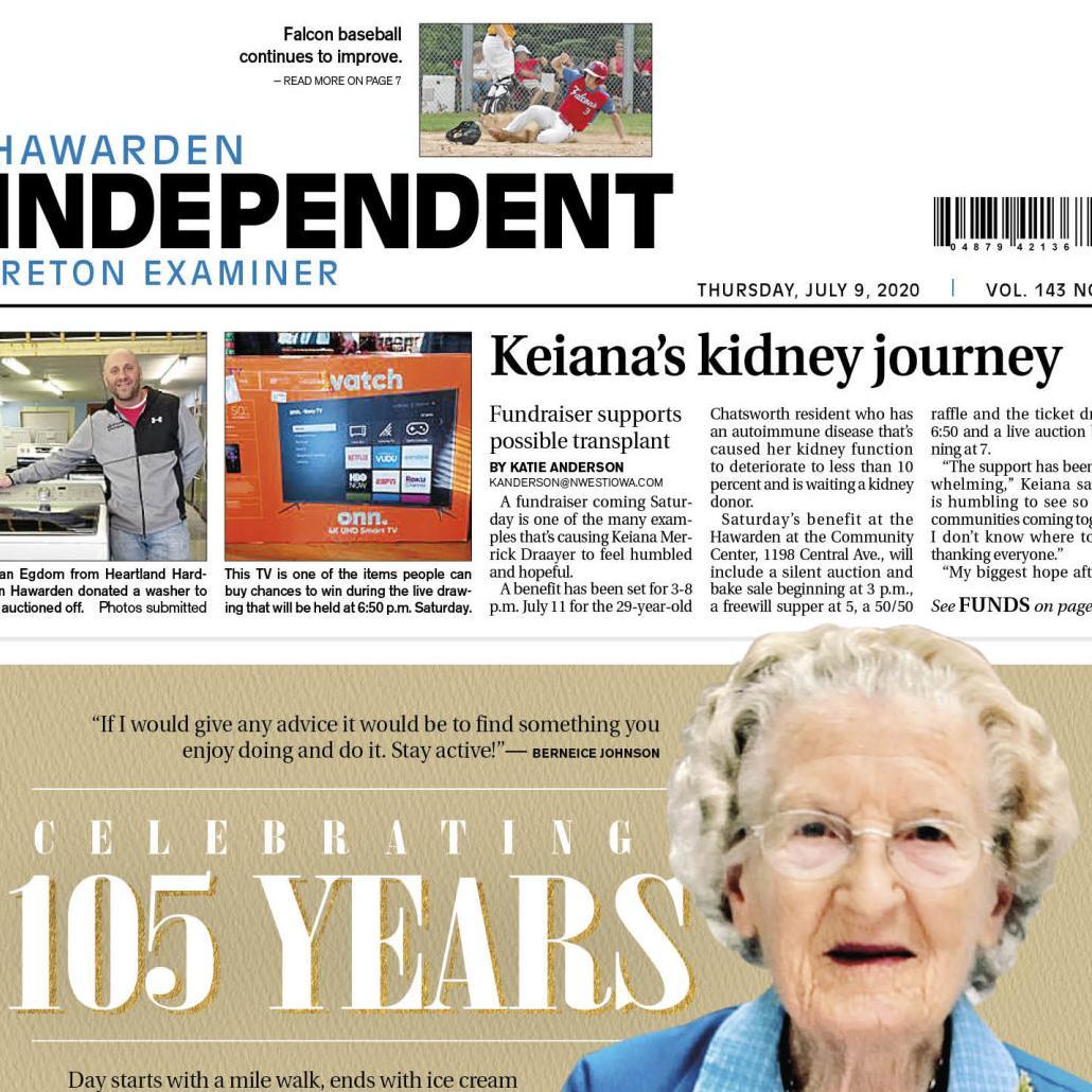 Hawarden Independent/Ireton Examiner JULY 9, 2020