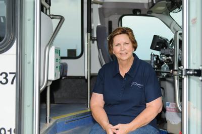 Retiring RIDES bus driver Barb Marienau