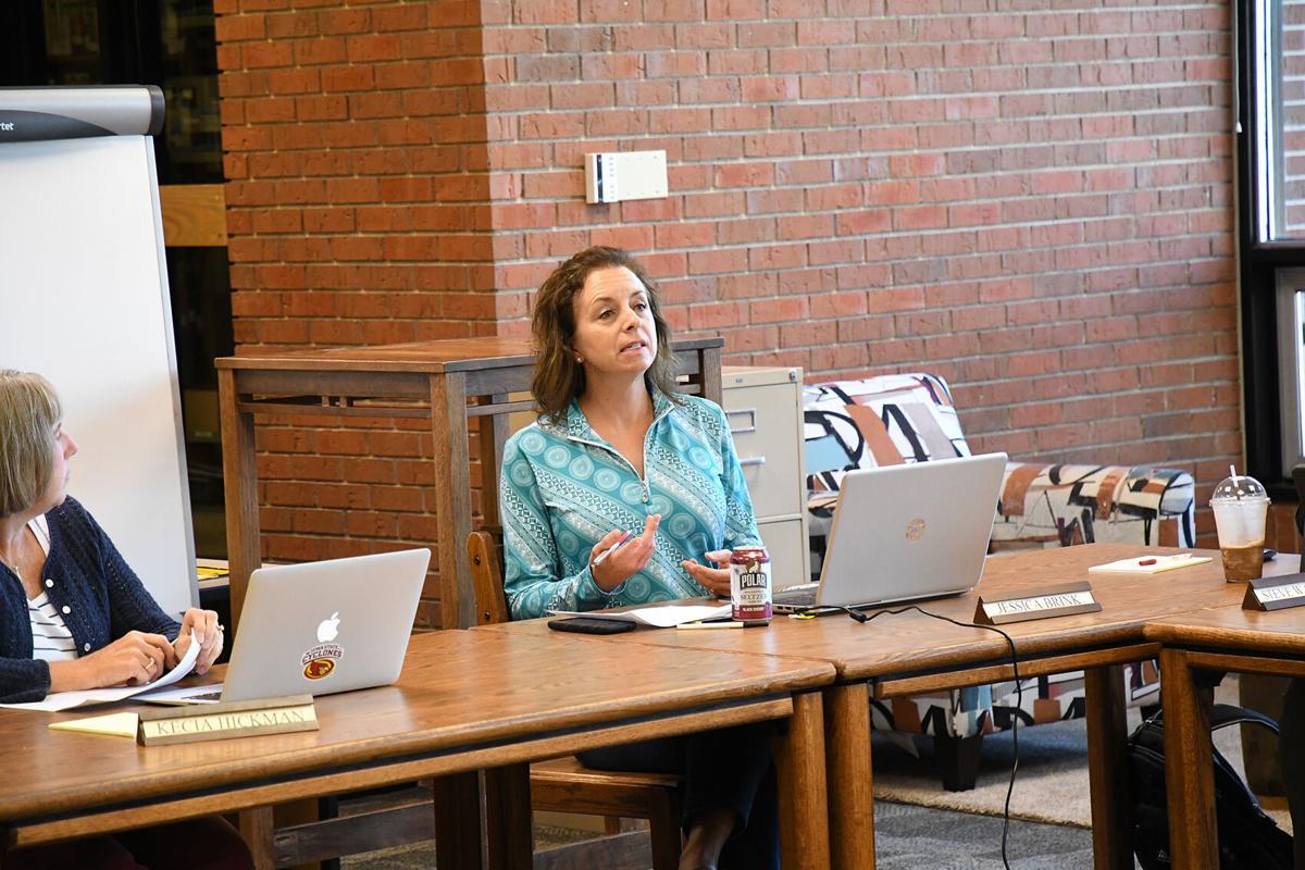 Jessica Brink at Sheldon School Board
