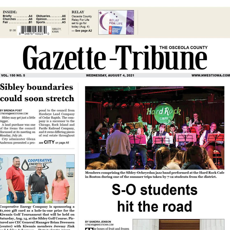 The Osceola County Gazette-Tribune Aug. 4