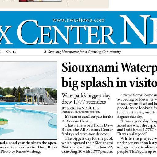 Sioux Center News Oct. 23, 2019