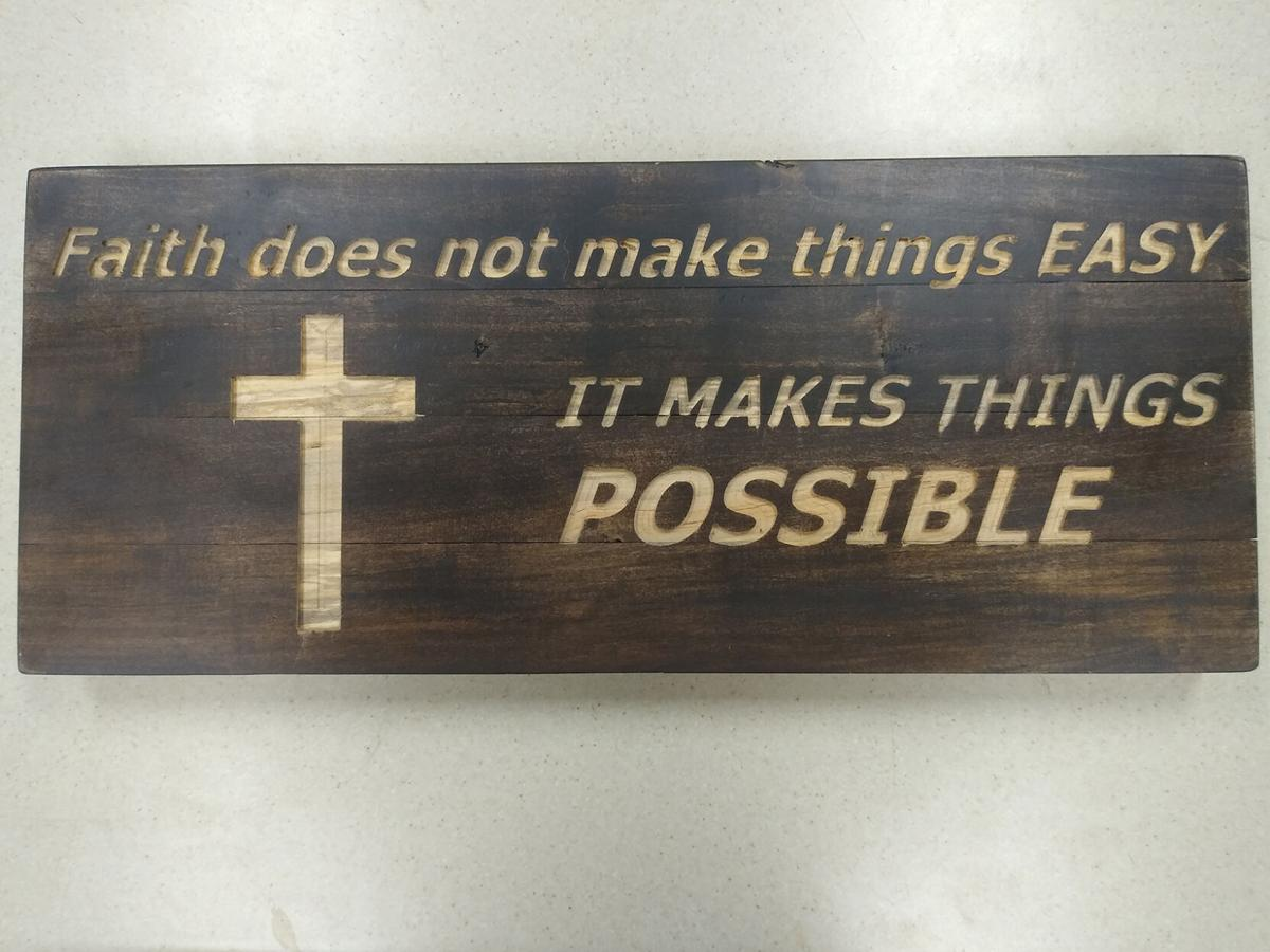 Donated decorative sign for Sioux Center Health
