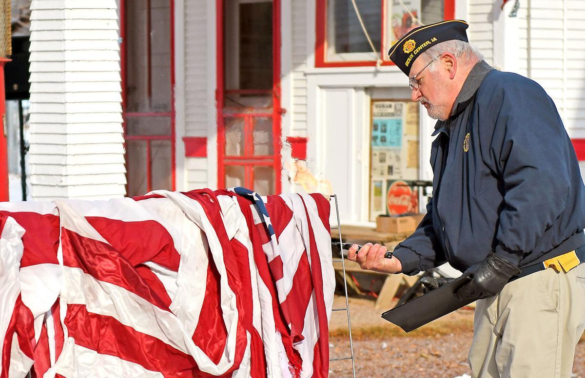 Chuck Brunsting flag retiring ceremony