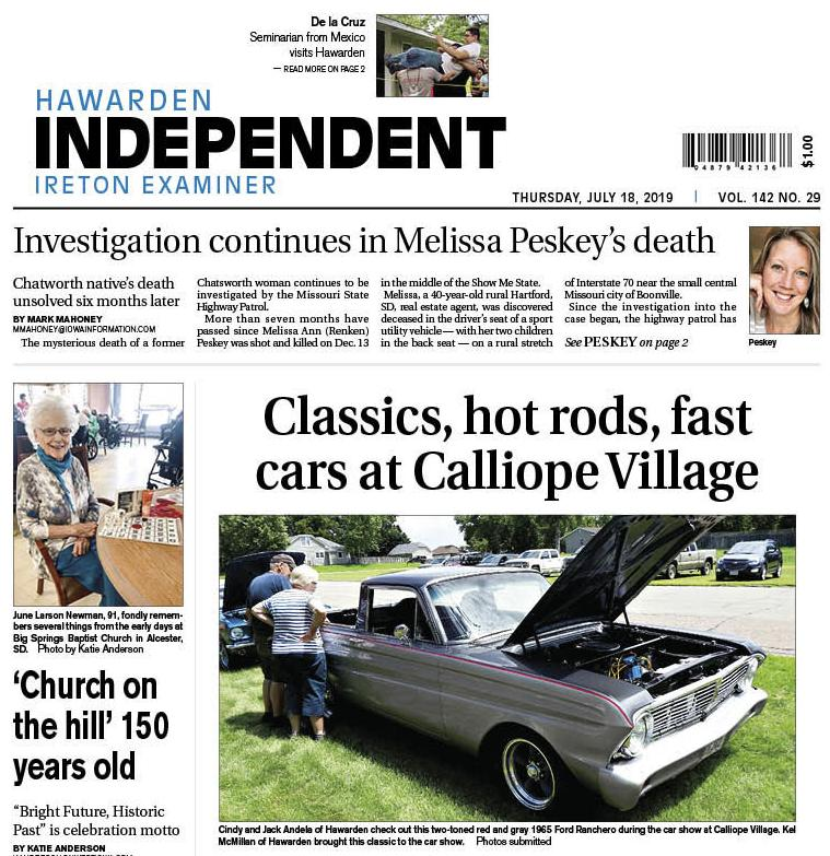 Hawarden Independent/Ireton Examiner July 18, 2019