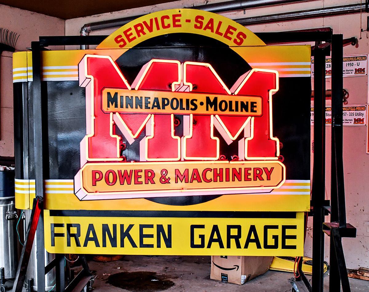Gene Bartel's Minneapolis-Moline sign