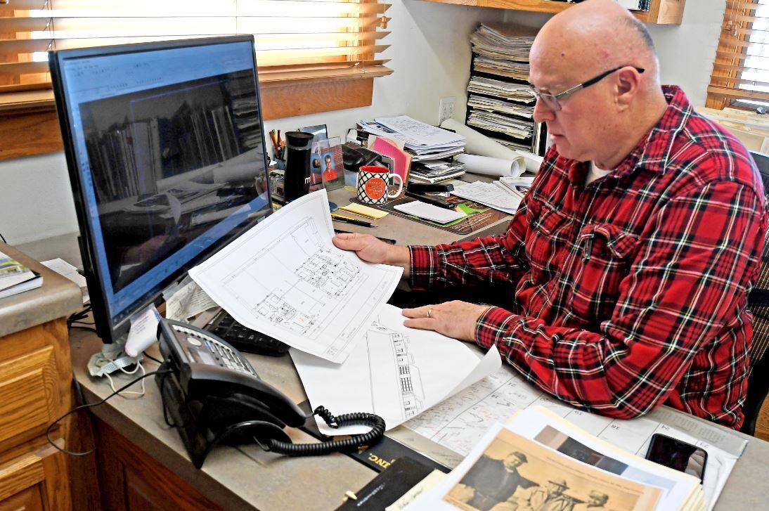Brian Schenpf reviews drafting plan