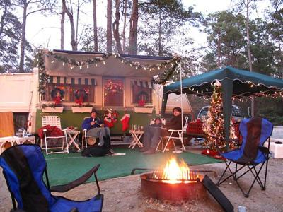 Christmas in July at campground