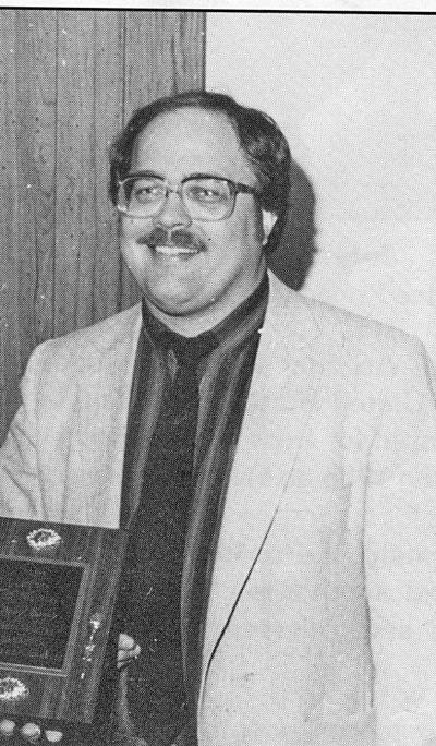 Larry Epperly being awarded the 1985 Citizen of the Year award