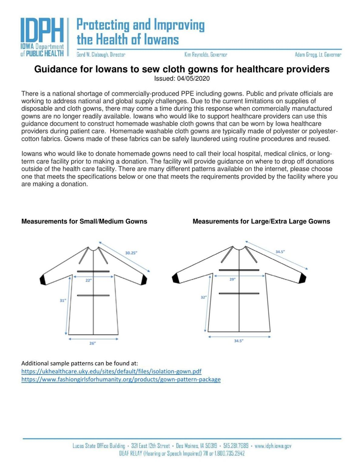 IDP gown instructions
