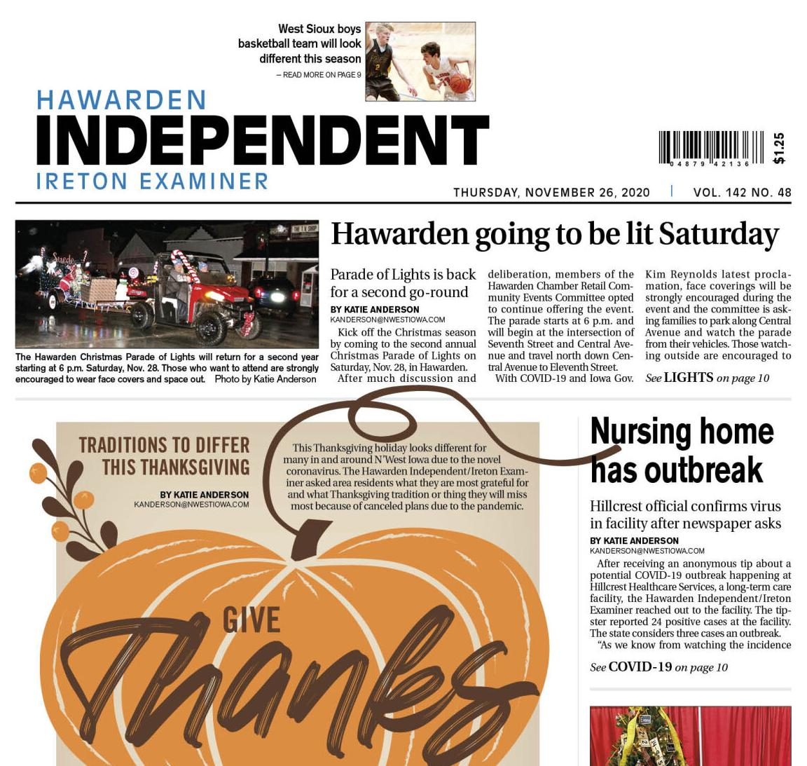 Hawarden Independent/Ireton Examiner Nov. 26, 2020