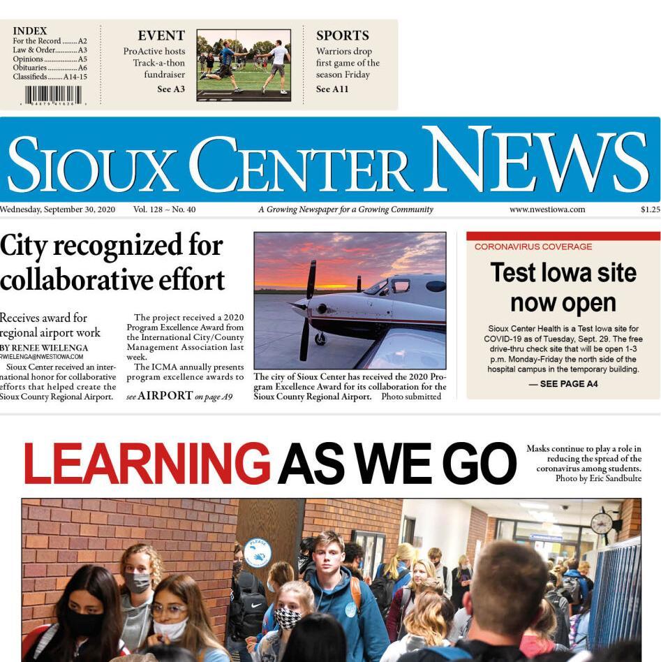 Sioux Center News Sept. 30, 2020