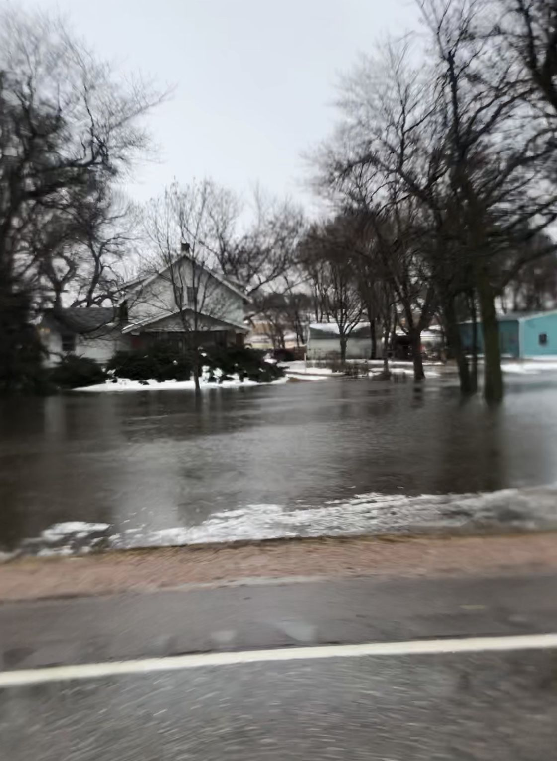 Flood waters cause basement flooding