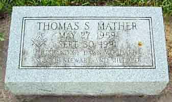 Thomas Mather's gravestone