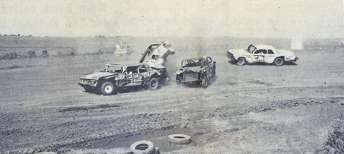 Car racing at Sioux Center in 1973