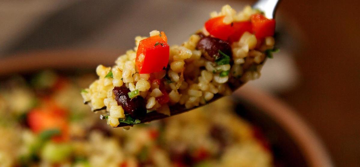 Bulgur Salad with Black Beans