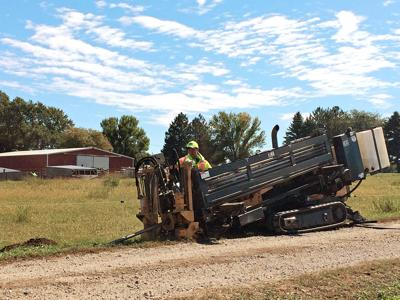 Fiber optics installed in rural Iowa