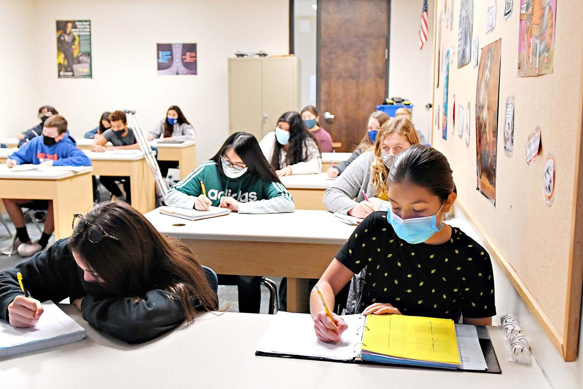 Sioux Center freshman algebra I class