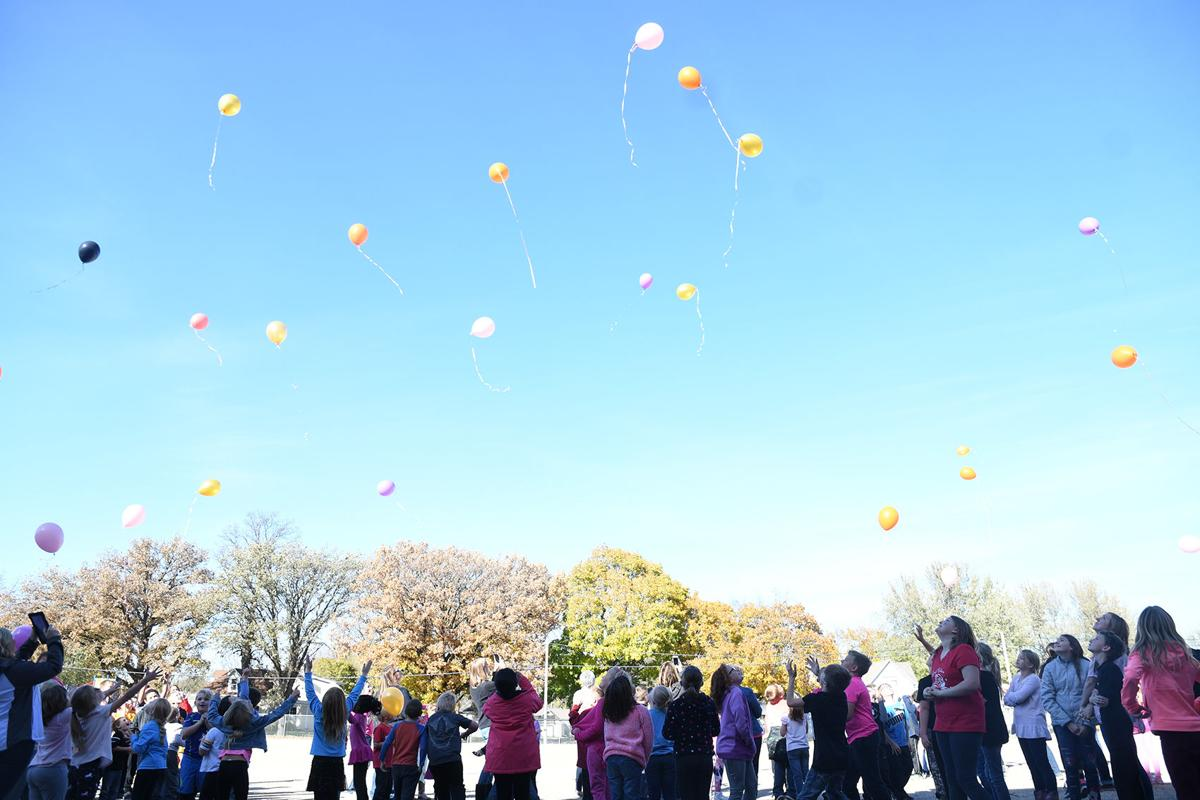 H-M-S Elementary releases balloons