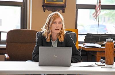 Sherri Bootsma speaks to supervisors