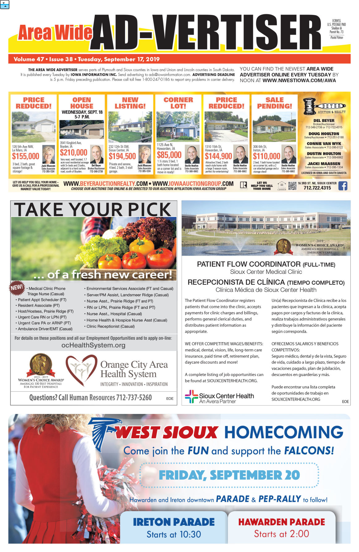 Area Wide Ad-vertiser: September 17, 2019