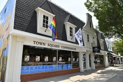 Flags stolen from Orange City coffee shop