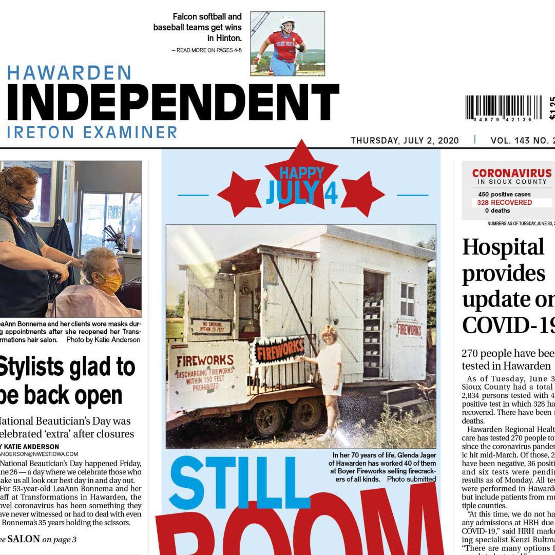 Hawarden Independent/Ireton Examiner JULY 2, 2020