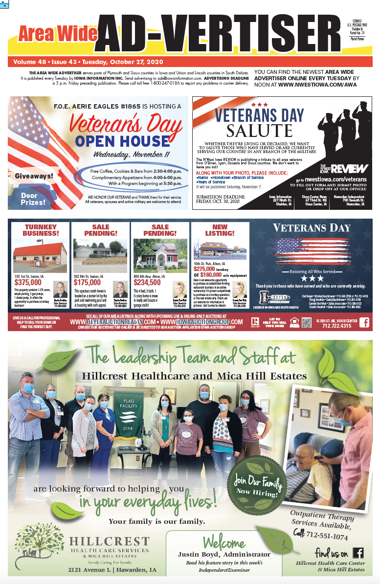 Area Wide Ad-Vertiser: October 27, 2020