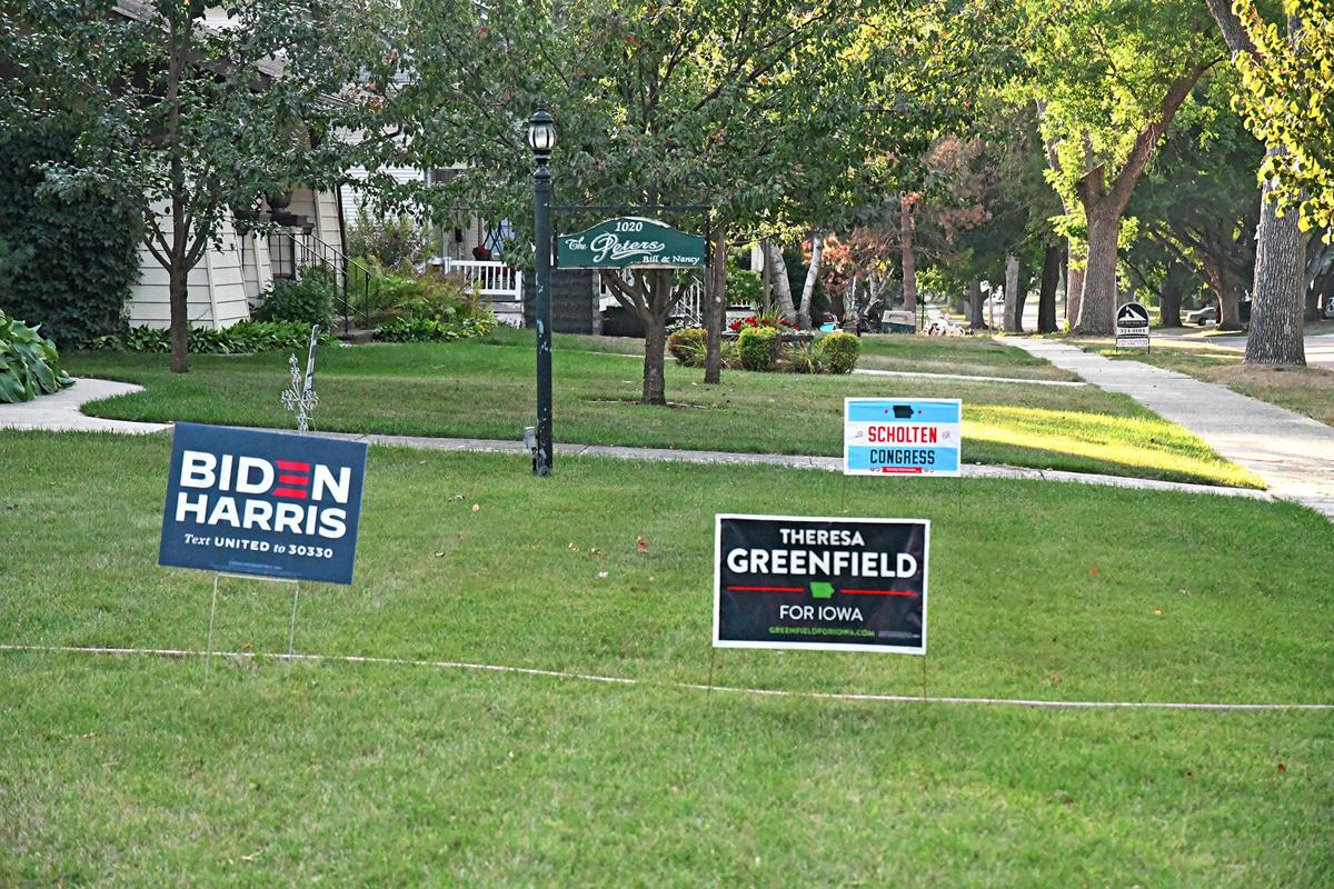 Dems signs in Sheldon