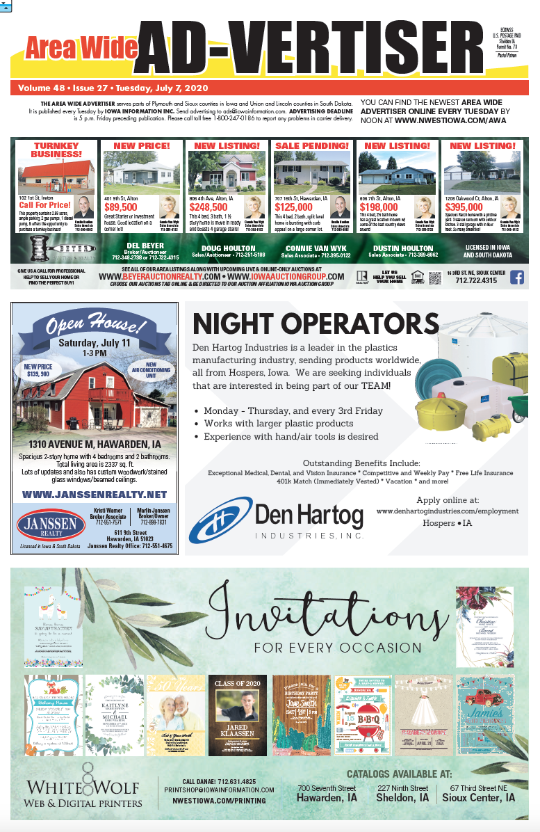 Area Wide Ad-vertiser: July 7, 2020