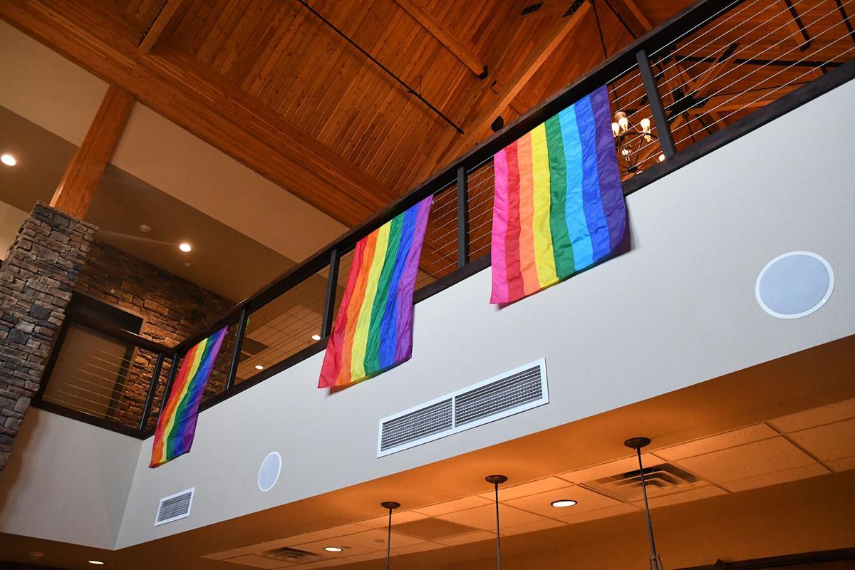 Rainbow Pride flags at Prairie Winds