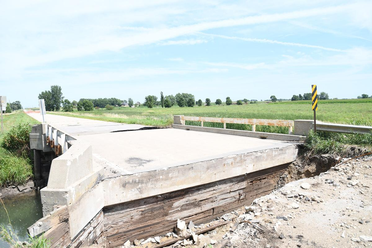Flooding damages rural Sheldon crossing