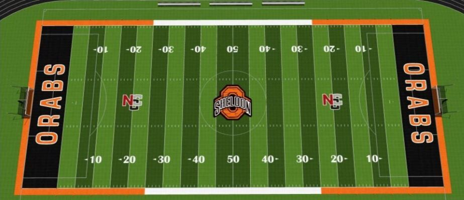 Sheldon athletic field render