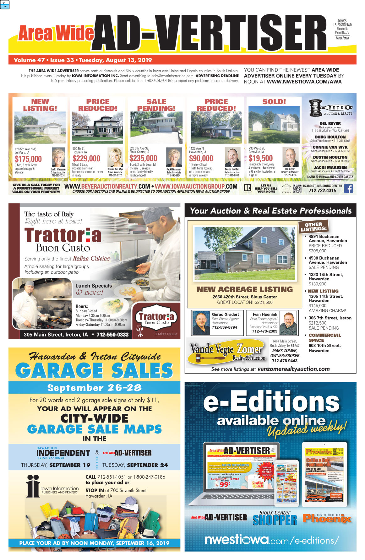 Area Wide Ad-vertiser: August 13, 2019