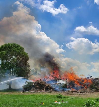 Sheldon tree dump fire