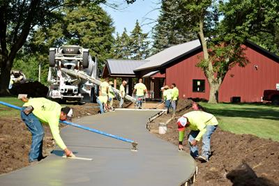 Paving wrapping up at Children's Park