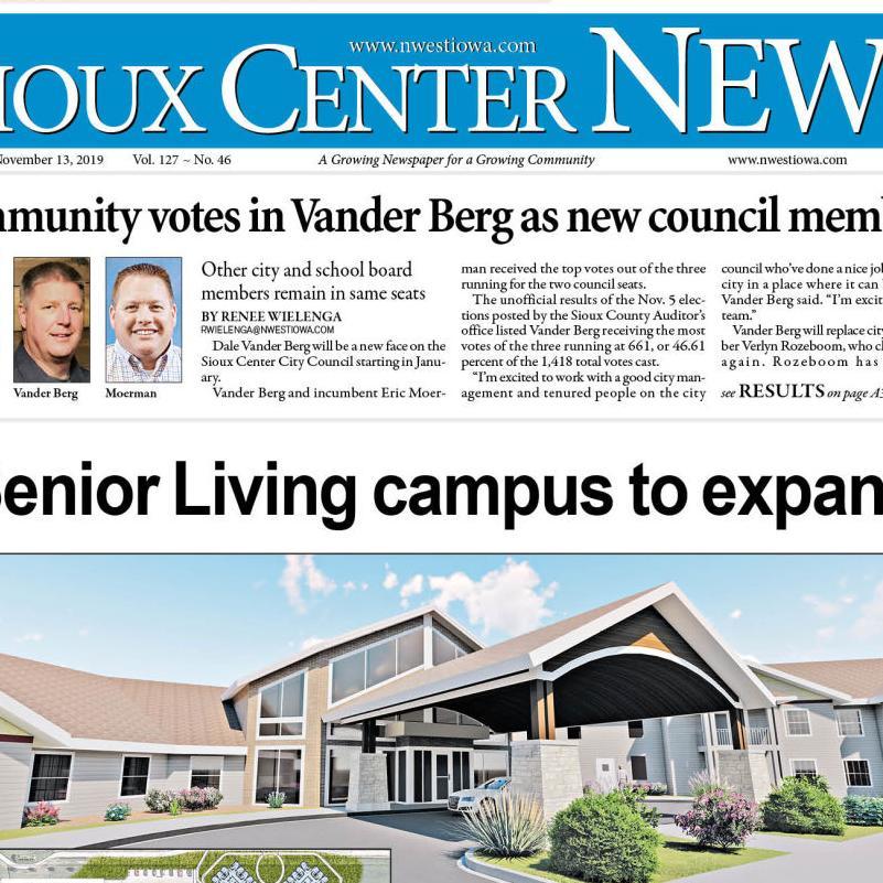 Sioux Center News Nov. 13, 2019