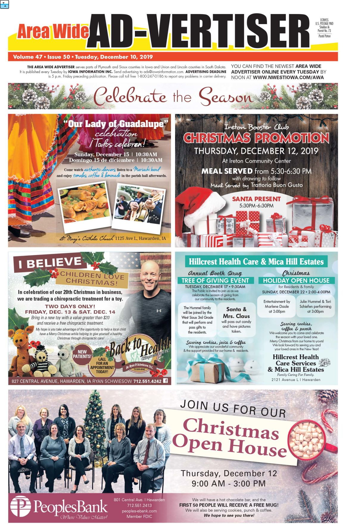 Area Wide Ad-vertiser: December 10, 2019
