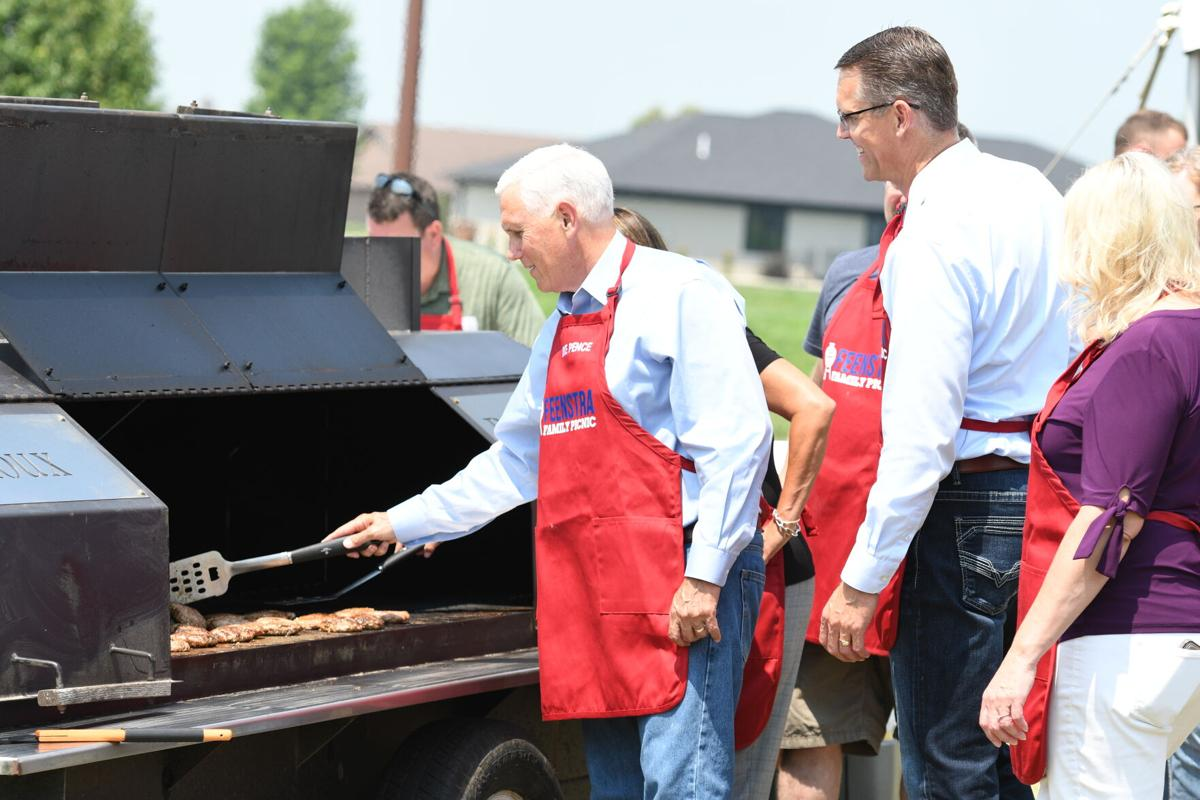 Mike Pence at Feenstra Family Picnic Grill