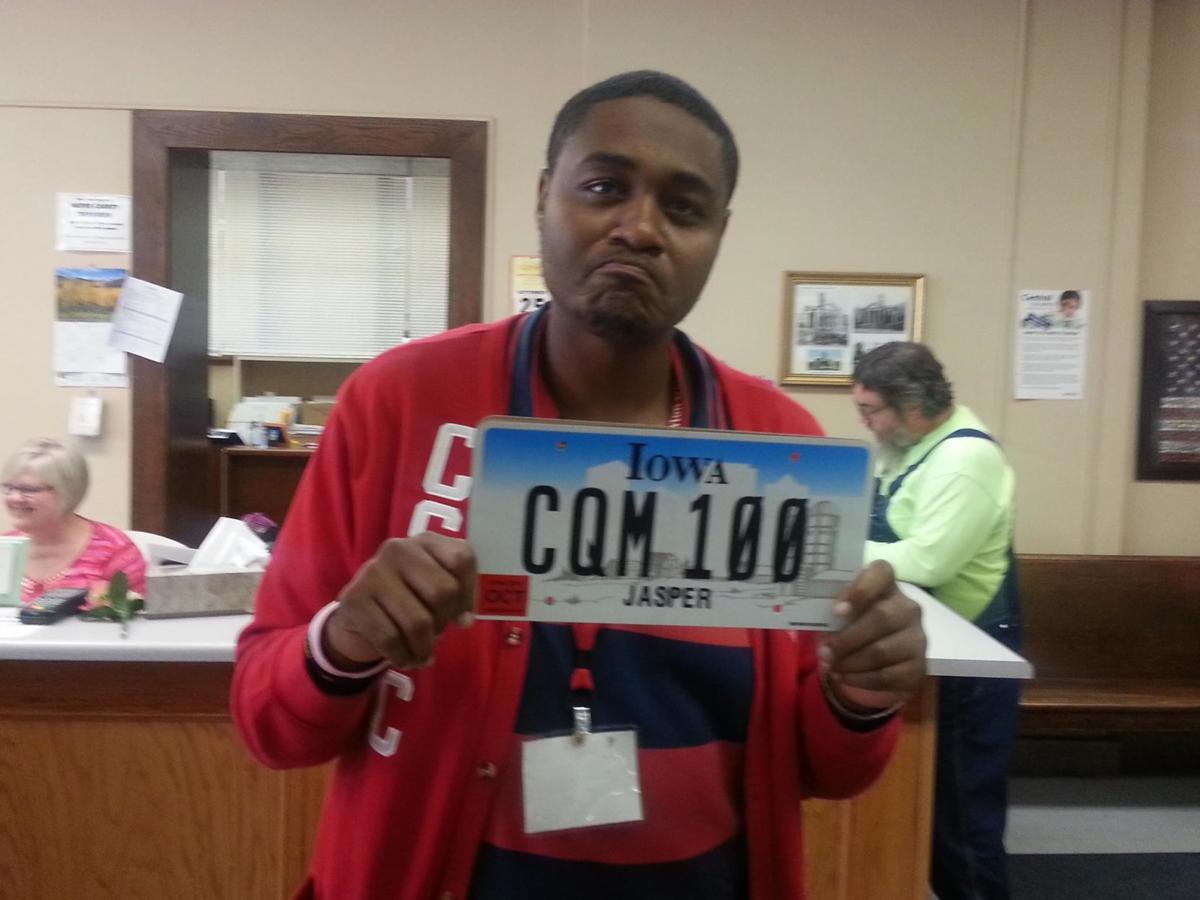 Ty's first Iowa plates