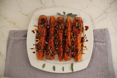 Roasted Butternut Squash with Walnuts