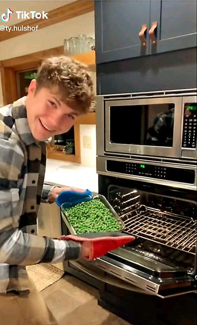 Ty Hulshof takes out peas