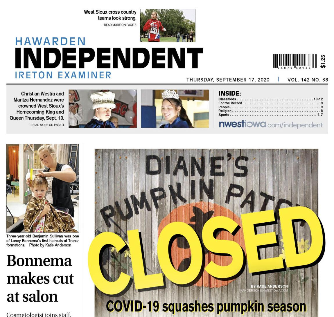 Hawarden Independent/Ireton Examiner Sept. 17, 2020