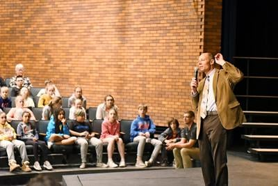 Mike Franken at Sioux Center Middle School